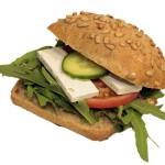 gesundes Sandwich für die Schulpause