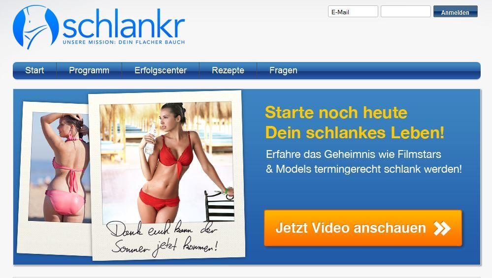 schlankr.de - die Online Plattform für erfolgreiches Abnehmen
